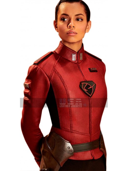 Krypton Lyta Zod (Georgina Campbell) Costume Leather Jacket